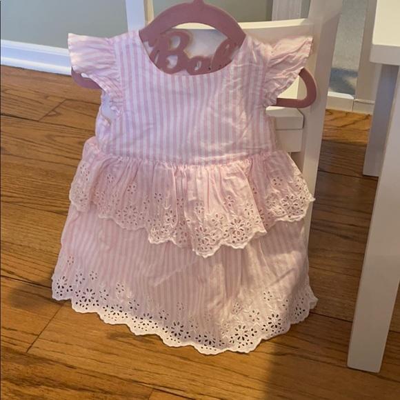 Baby Gap Pinstripe Eyelet Dress